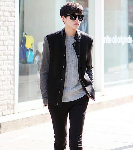 model rambut korea pria gaya jalanan