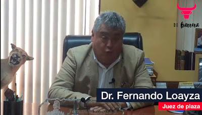 Juez de la plaza de Acho presidente notario Fernando Loayza entrevista