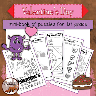 The Puzzle Den - Valentine's Day mini-book for First Graders