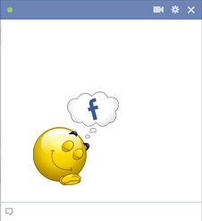 Smiley Dreaming About Facebook