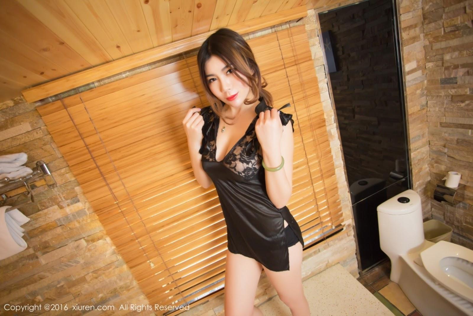 Goddess Mu Zi Xi (Bing Bing) Superb Busty Chinese Nude With The Wet Kiss