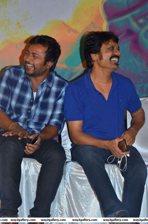 Bobby Simha and S J Surya share a light moment during the press meet of Tamil film Iraivi