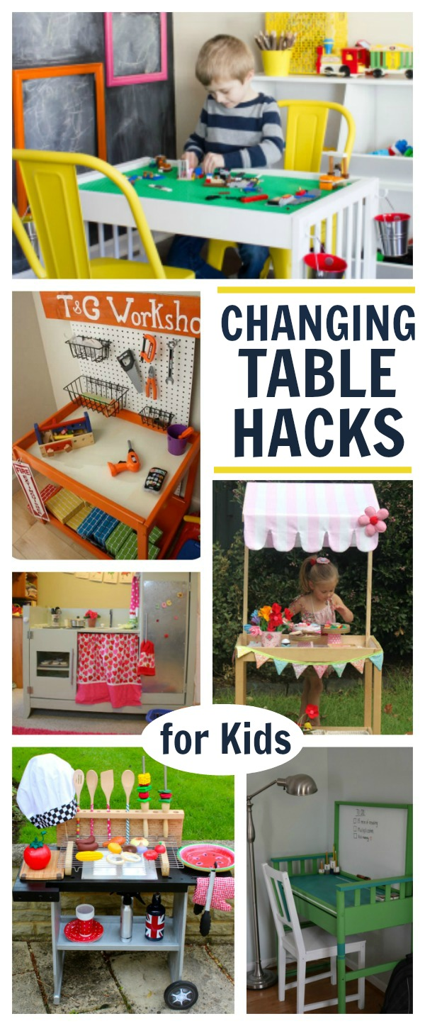 When your child is done with their changing table turn it in into one of these awesome projects!