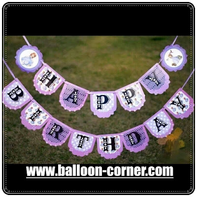 Bunting Banner HAPPY BIRTHDAY Motif Princess Sofia