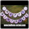 Bunting Banner HAPPY BIRTHDAY Motif Princess Sofia