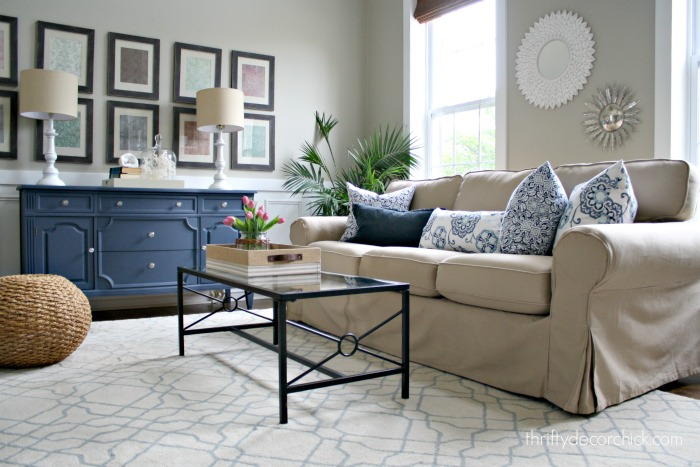 Neutral sofa living room