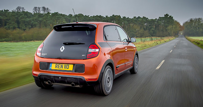 Renault Twingo GT rear view, driving