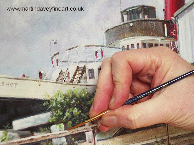 southampton tug artwork during painting