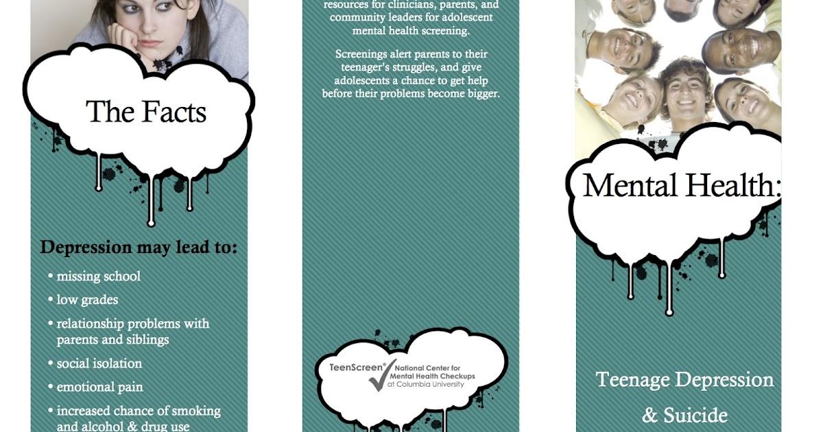 Striving For Mental Health Teen Depression & Suicide Brochure