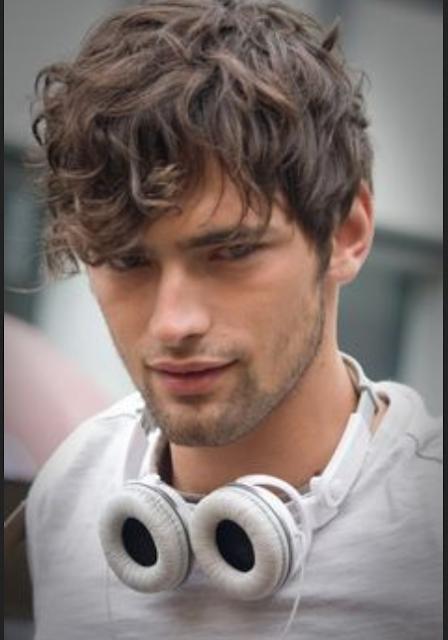curly wave style untuk pria