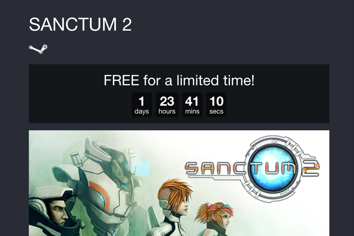 Sanctum 2 gratis para Steam (PC)