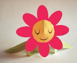 flor animada de papel