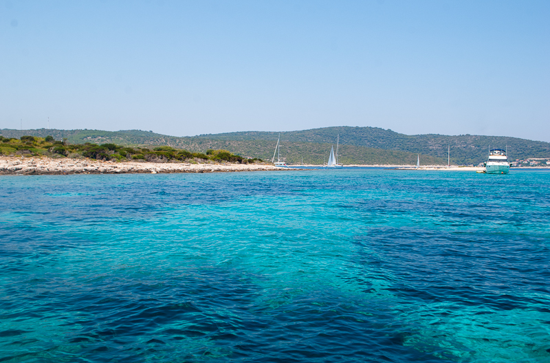 croatia sea water of clear crystal blue