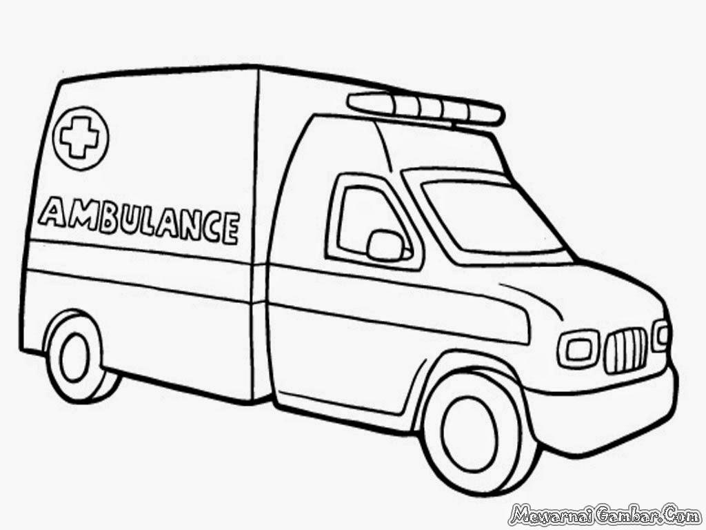 mewarnai mobil ambulan