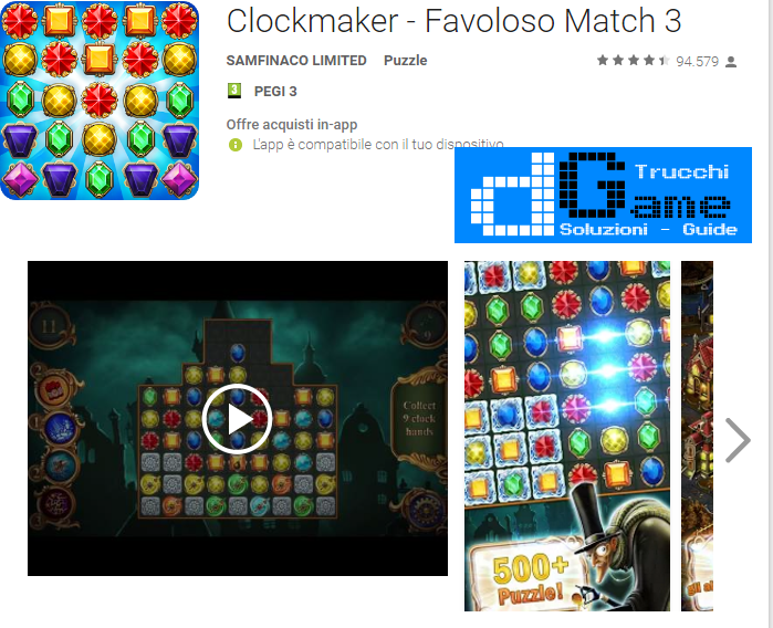 Trucchi Clockmaker - Favoloso Match 3 Mod Apk Android