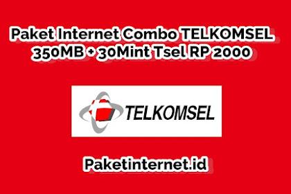 √ Paket Internet Combo TELKOMSEL 350MB + 30Min Tsel Cuma 2 Ribu Saja