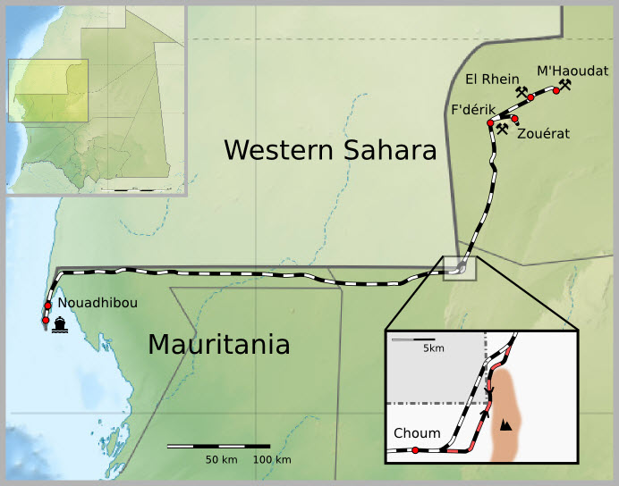 mauritania-railway-map
