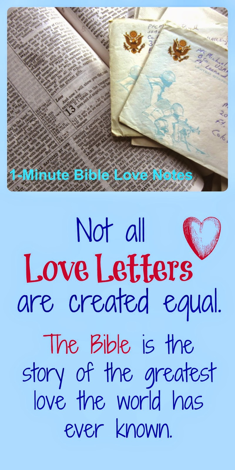 love letters, Bible is a love letter, God's love letter to man, God's Word is a love letter