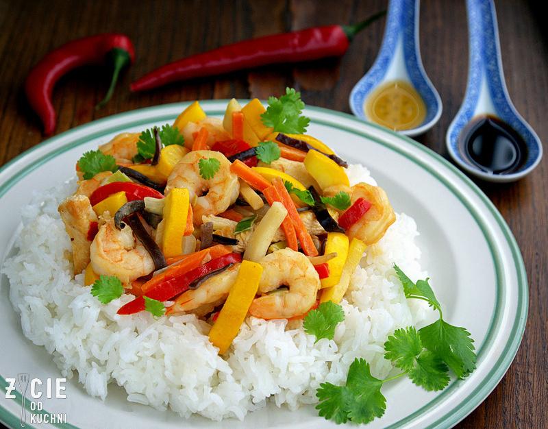 poltino, bukiet chinski, bukiet chinski poltino, krewetki, krewetki z warzywami, warzywa chinskie, zycie od kuchni