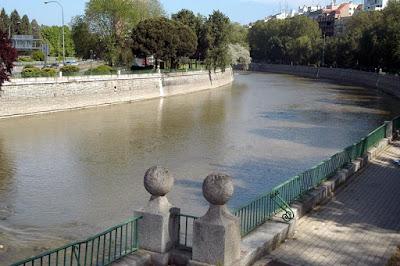 Río Manzanares en Madrid