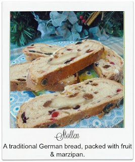 This traditional German bread, packed with fruit and marzipan, is often bought over the Christmas period.  It's straight forward to make and is certainly a treat not to miss out on!