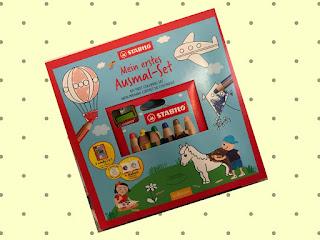 Stabilo Woody Ausmal - Set mit Spitzer, Ausmalbuch