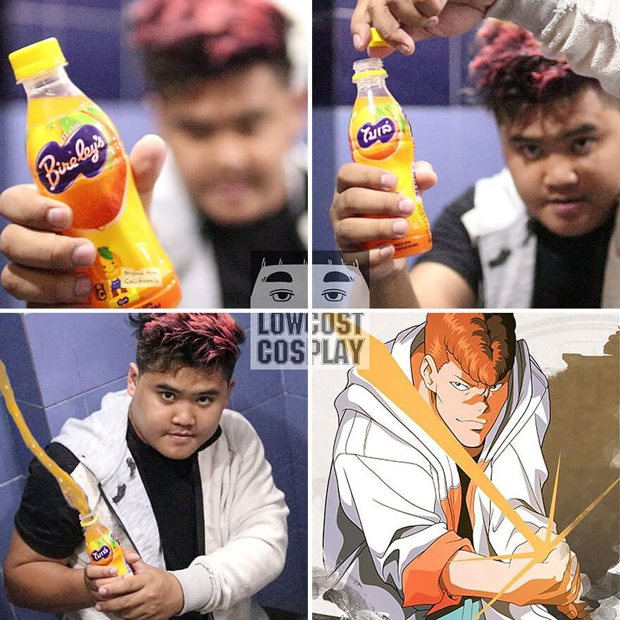 32 Hilarious Pictures Of Cosplay Guy Using Creative Low-Cost Costumes