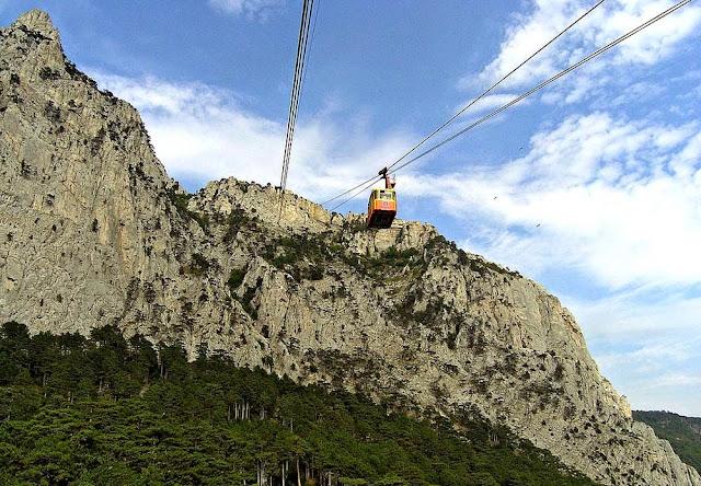 teleférico do Mounte Ai-Petry - Crimea - Ucrânia