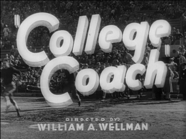 Title card for College Coach 1933