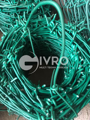 Jual kawat duri PVC, galvanis juga kawat silet