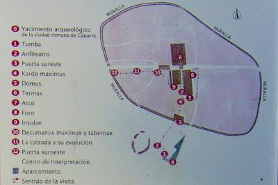 Mapa de la Ciudad Romana de Cáparra