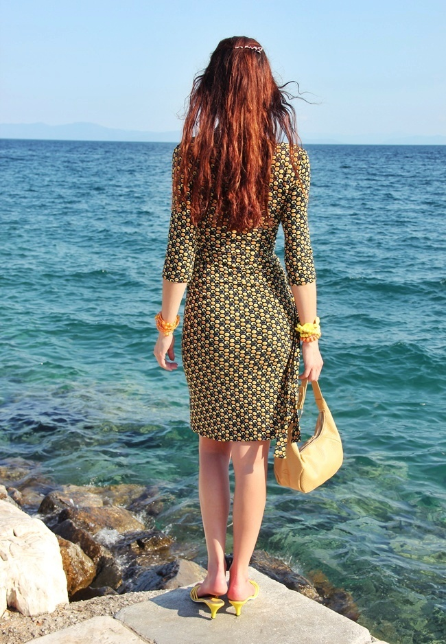most beautiful printed wrap dresses