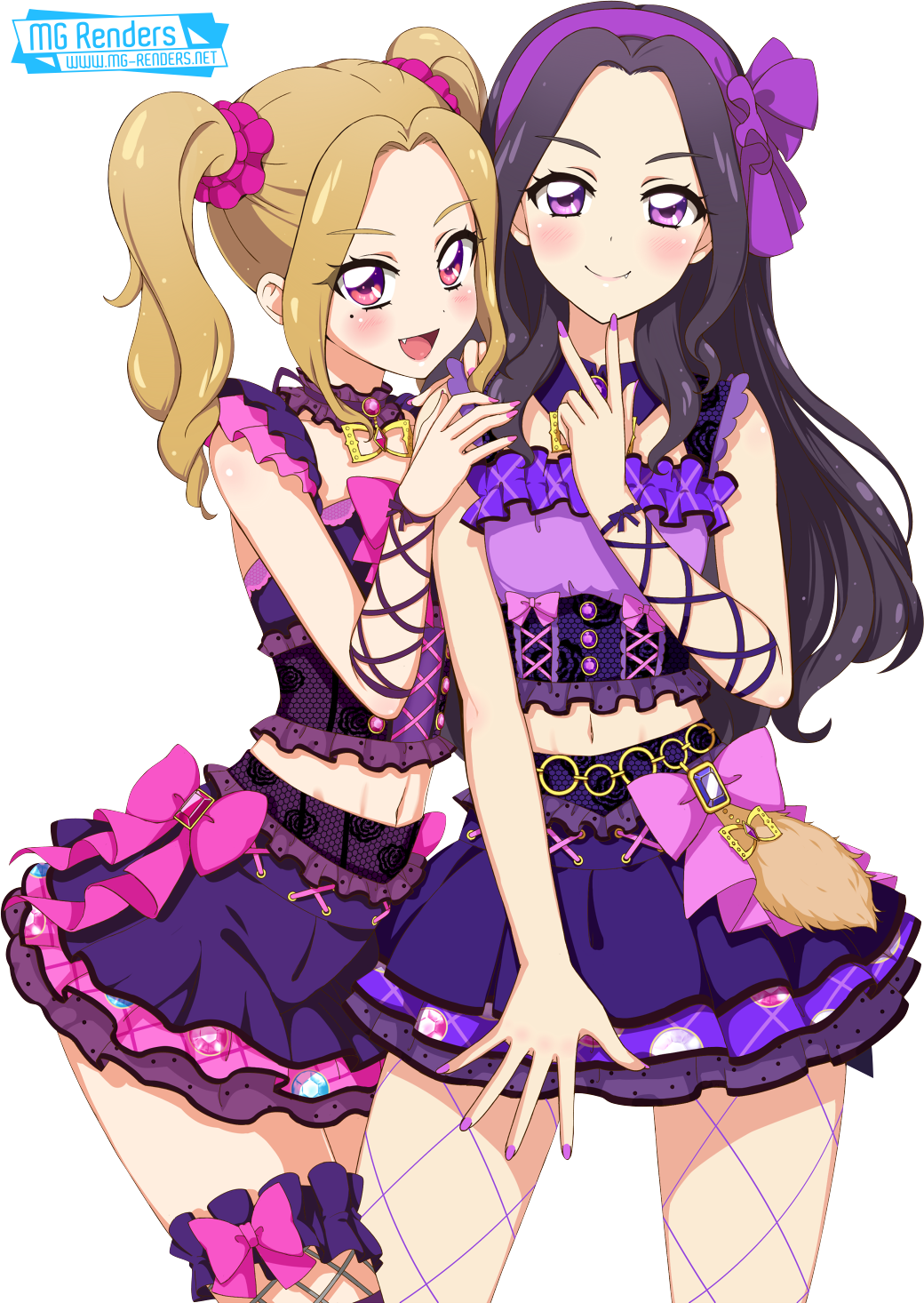 Tags: Anime, Render,  Aikatsu!,  Daichi Nono,  Shirakaba Risa,  Skirt,  Small breasts,  PNG, Image, Picture
