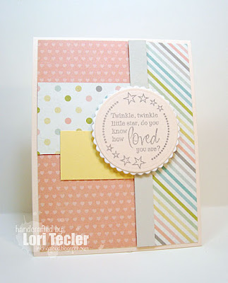 Twinkle, Twinkle Little Star card-designed by Lori Tecler/Inking Aloud-stamps from Verve Stamps