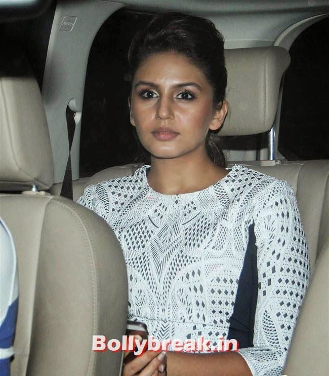 Huma Qureshi, Bollywood celebs Clicked in their Cars at 2 States Special Screening
