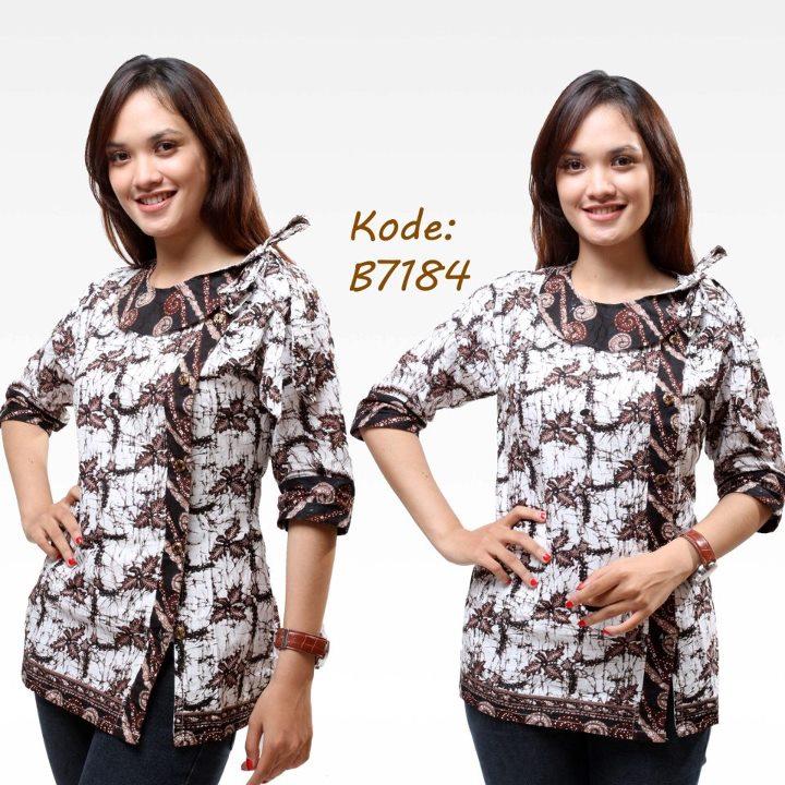 7 Model Baju Batik Kantor Wanita Trendy b78433297f