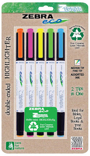 zebra eco recycled highlighters