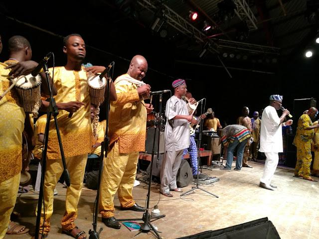 Musiliu  Haruna Ishola and his drummers