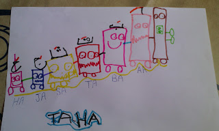 Homeschool reading writing activity