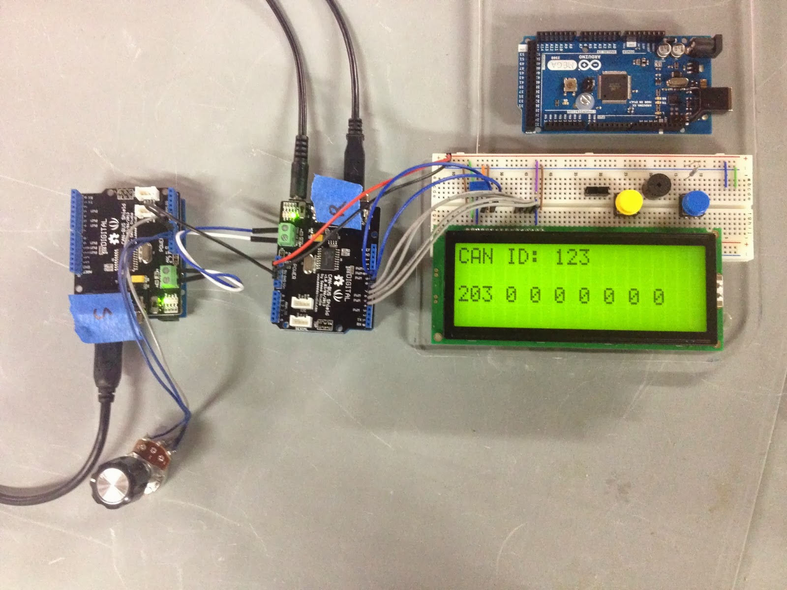 Matthew McMillan: Arduino - Sending data over a CAN bus