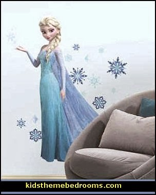 Frozen Elsa Peel and Stick Giant Wall Decals    penguin bedrooms - polar bear bedrooms - arctic theme bedrooms - winter wonderland theme bedrooms - snow theme decorating ideas - penguin duvet covers - penguin bedding - winter wonderland party ideas - Christmas