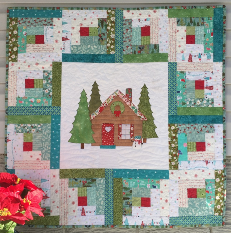 Log Cabin Patterns : Stitching with strings log cabin christmas