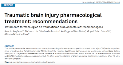 Traumatic brain injury pharmacological treatment: recommendations