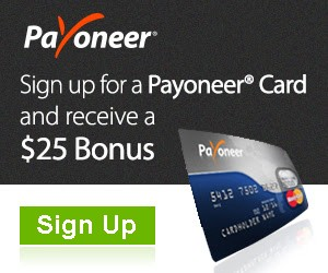 Sign Up For Payoneer Card And Receive $25 Bonus