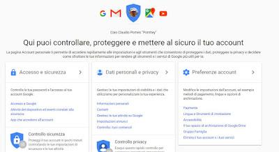 google account sicuro
