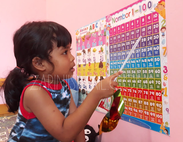 Mengajar Anak Tadika Mengenal Nombor Besar