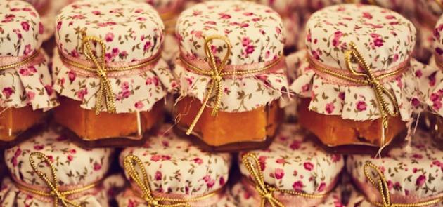 Lembrancinha potinho de doce de abóbora