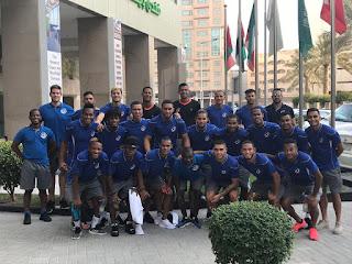 Selección de fútbol RD llega a Bahrein donde enfrentará A los Emiratos Árabes Unidos