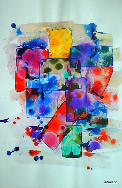 Abstract Art, Painting by Miabo Enyadike