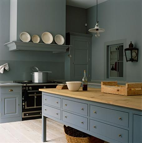 S Old Farmhouse Kitchen Is Now A Dark Red Which Would Be Nice To Change Dramatic Blue Color Or Shade Of